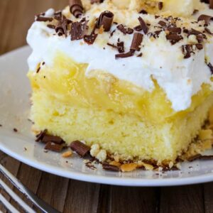 Banana Bourbon Poke Cake