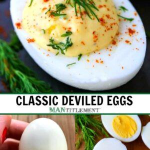 deviled eggs collage for pinterest