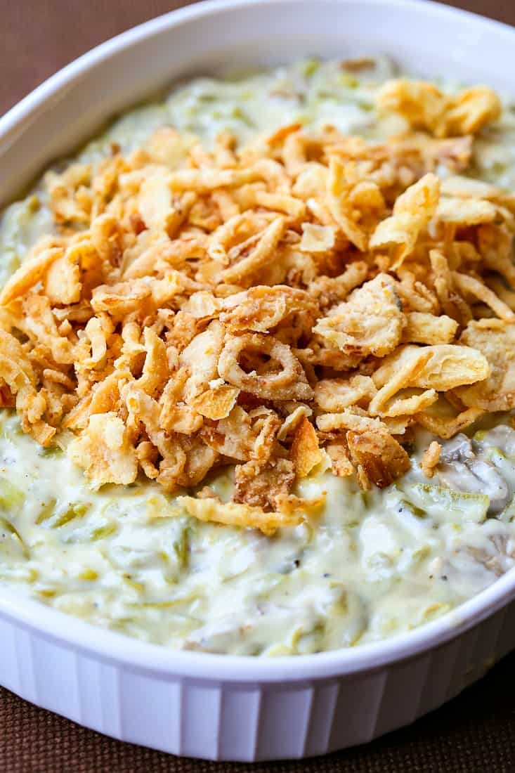 Creamy Green Bean Casserole is a make ahead side dish recipe