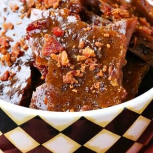 Easy Bourbon Bacon Brittle is a bourbon bacon brittle recipe that's done in 15 minutes