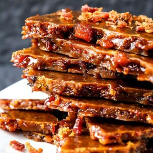 Easy Bourbon Bacon Brittle