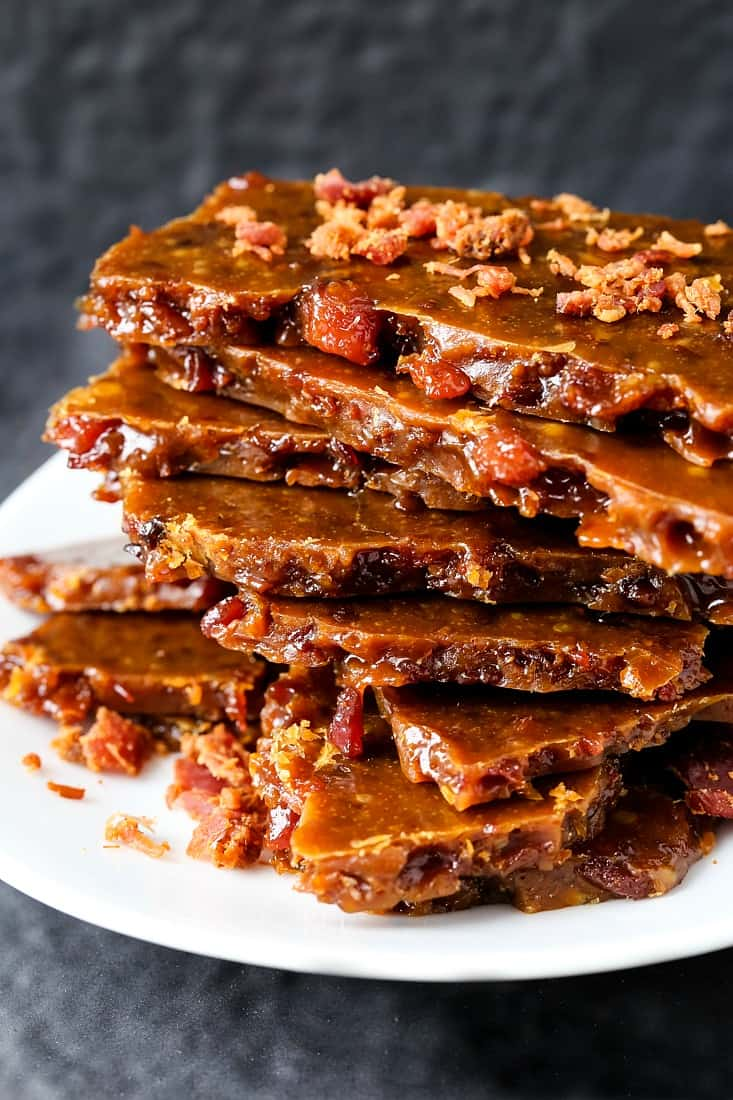 Easy Bourbon Bacon Brittle is an easy dessert recipe with bacon