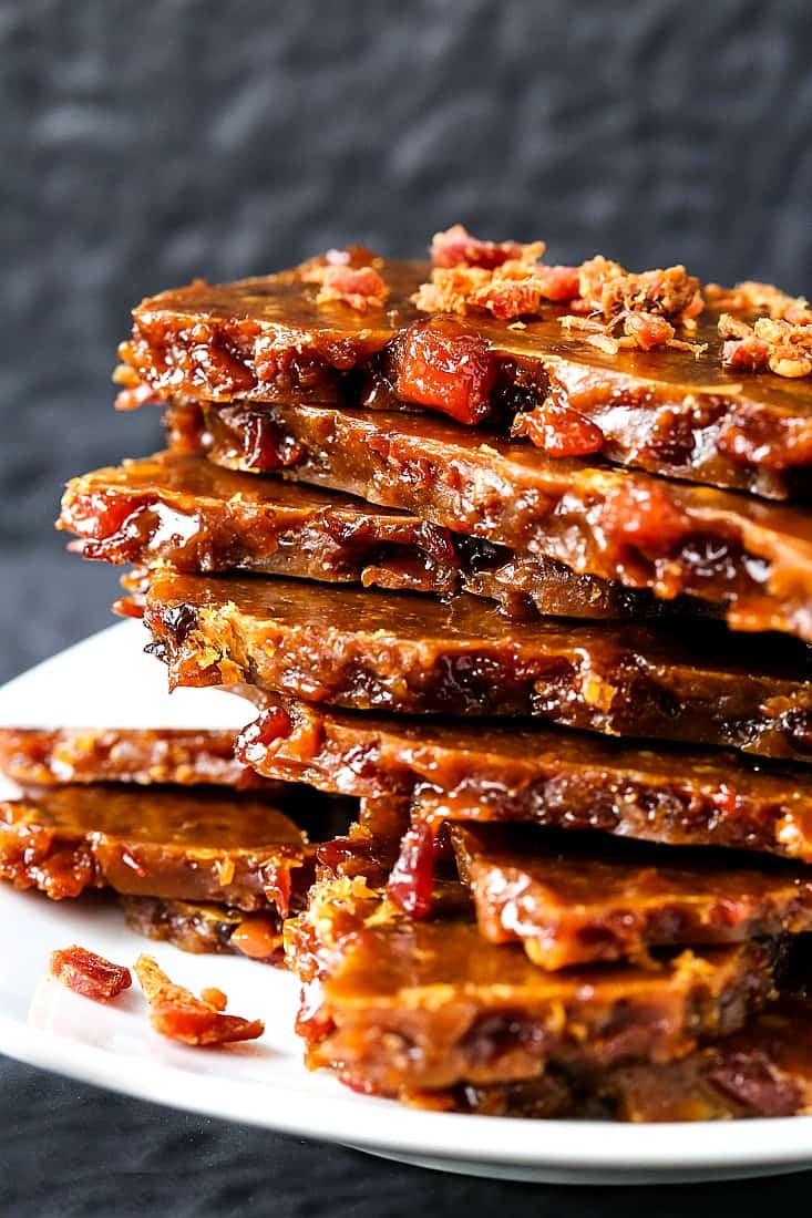 Make this Easy Bourbon Bacon Brittle for dessert or for any party!