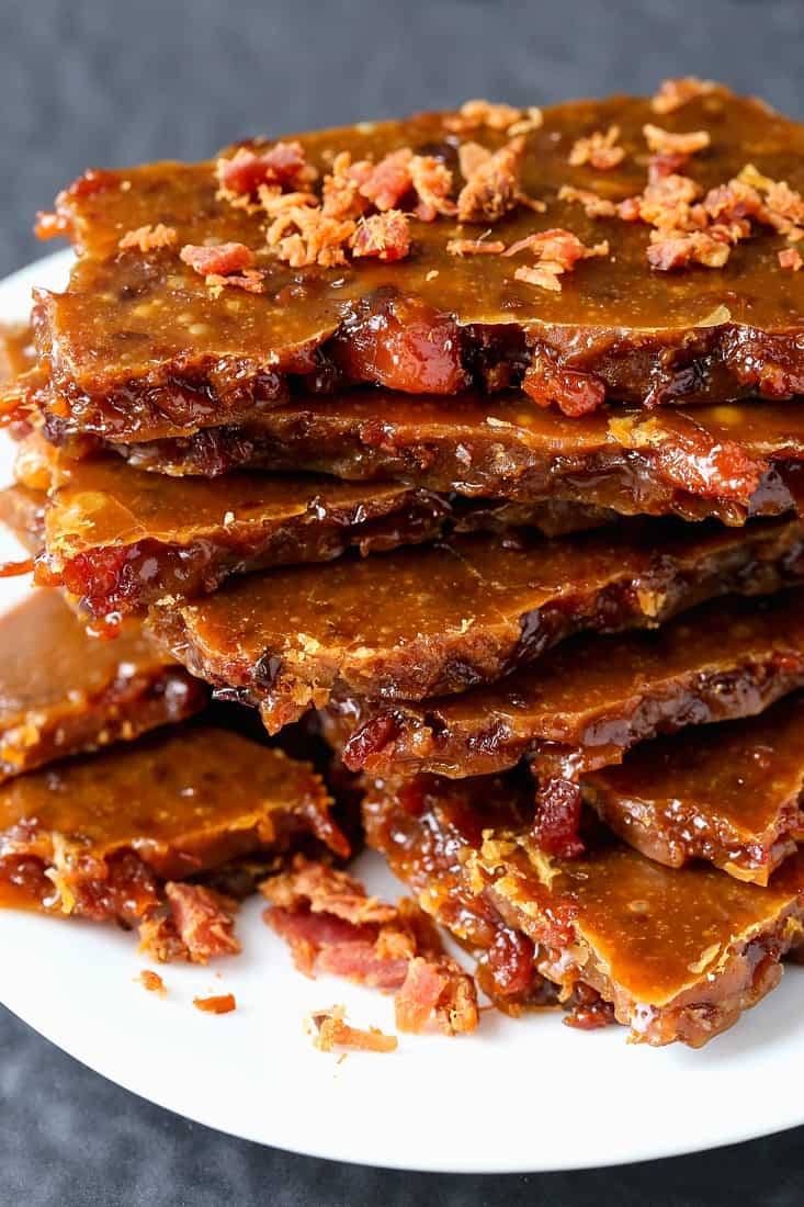Easy Bourbon Bacon Brittle is a homemade gift idea for the holidays or any occasion