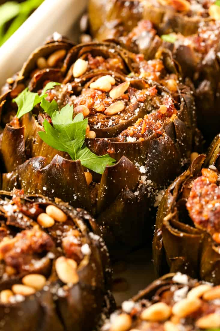 Grandma's Best Stuffed Artichokes are an artichoke side dish perfect for the holidays