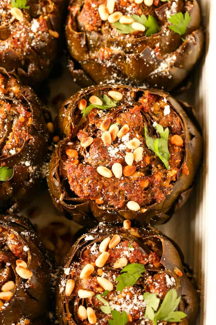 Grandma's Best Stuffed Artichokes are a vegetable side dish for the holidays