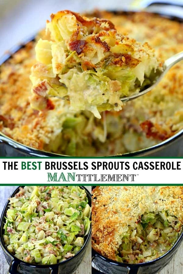 brussels sprouts casserole collage for pinterest
