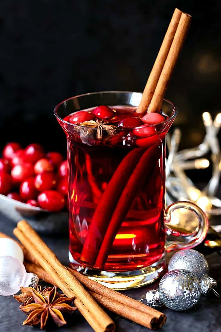Christmas Punch is a cocktail recipe with cranberry juice for the holidays