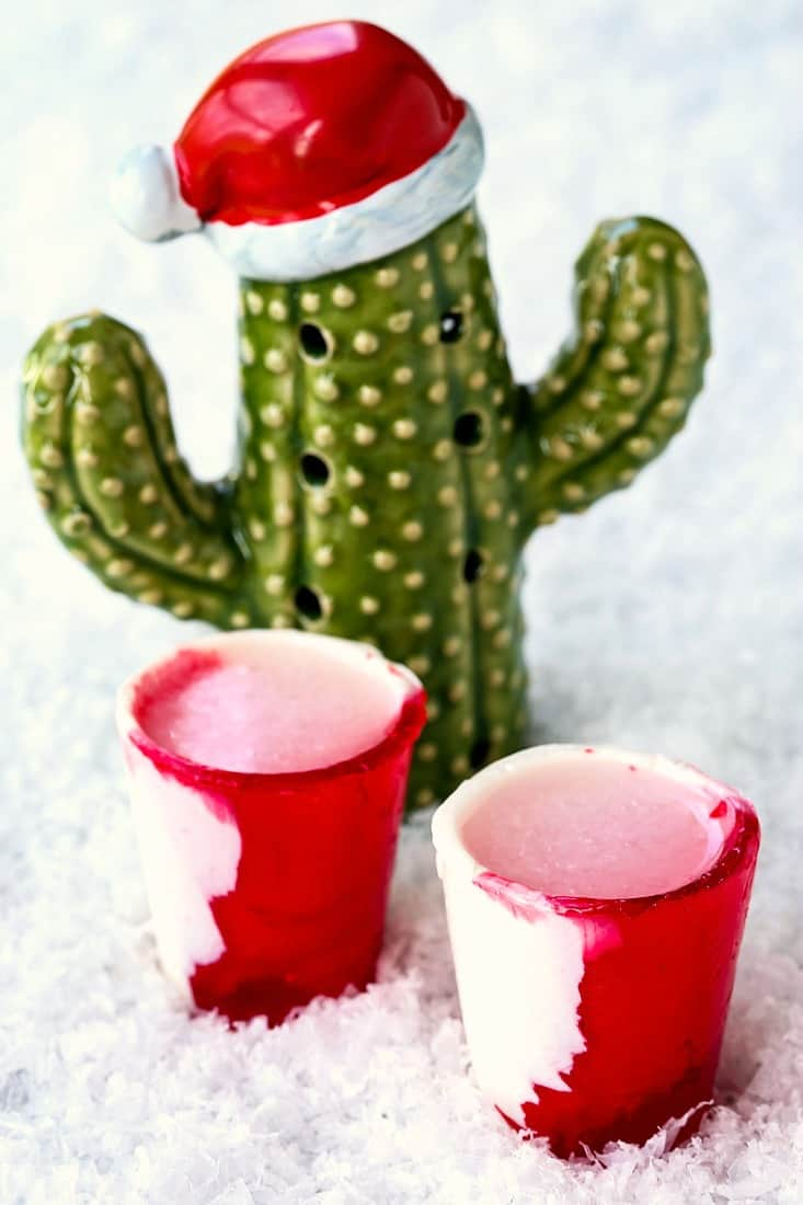 Frosty Peppermint Tequila Shots are a frozen tequila shot drink with mint flavor