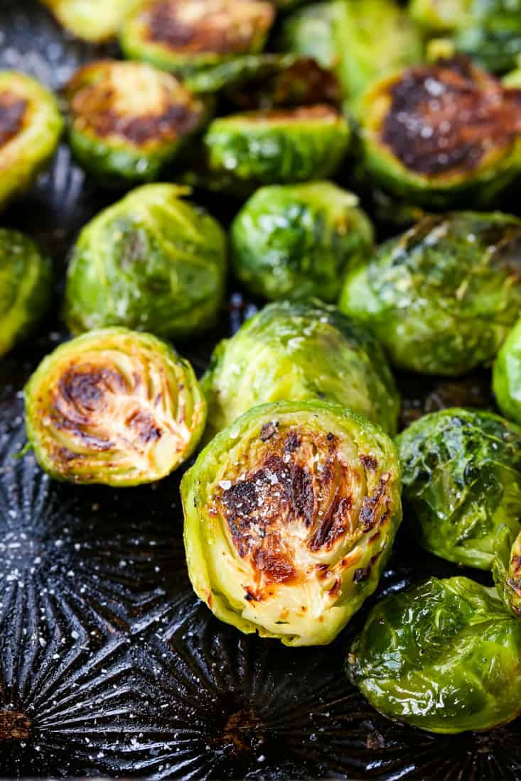 How To Make the Best Roasted Brussels Sprouts that are super crispy and perfectly seasoned