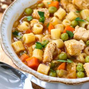 Leftover Turkey Noodle Soup is a soup recipe with leftover turkey or chicken