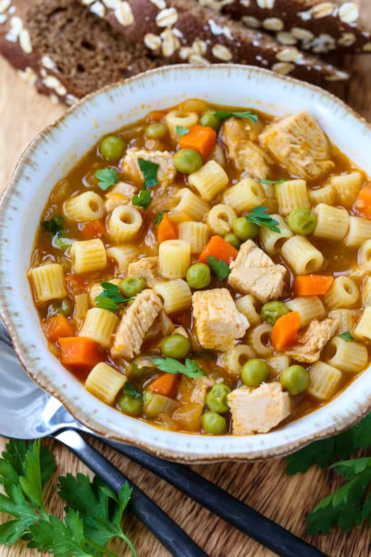 Leftover Turkey Soup is a turkey soup recipe with leftover turkey and vegetables
