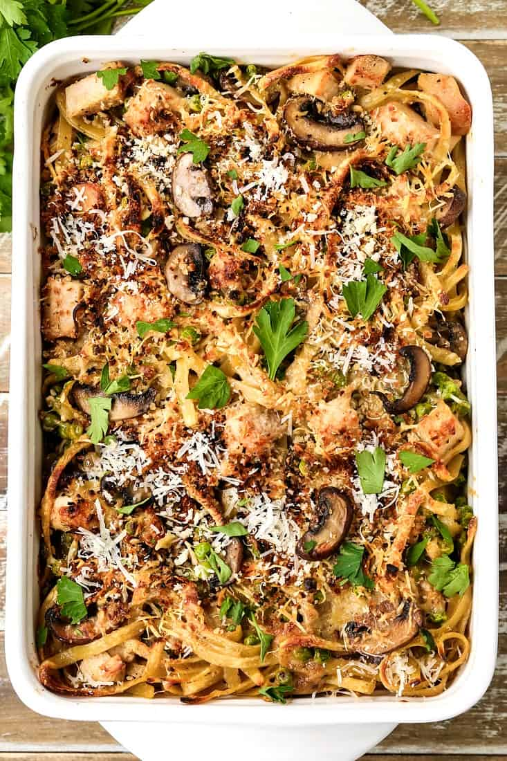 Leftover Turkey Tetrazzini is a leftover turkey recipe used in a pasta casserole