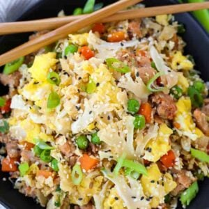 Cauliflower Fried Rice is a fried rice recipe made with cauliflower instead of regular rice