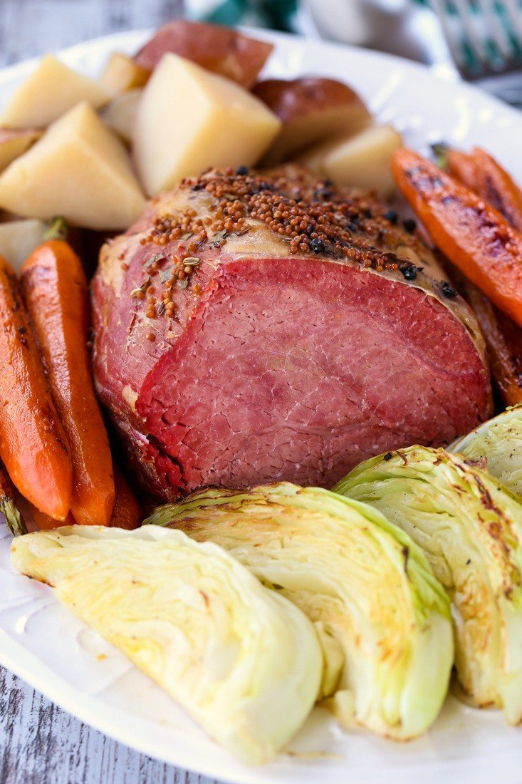 Crock Pot Corned Beef is made with cabbage and potatoes in a crock pot