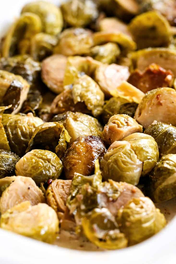Crock Pot Crispy Brussels Sprouts is a crock pot side dish recipe