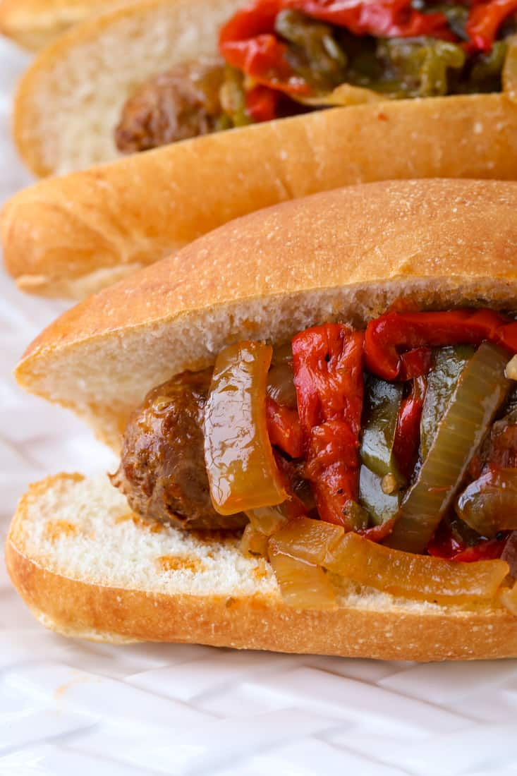 Crock Pot Sausage and Peppers is a sausage and peppers recipe made in a slow cooker