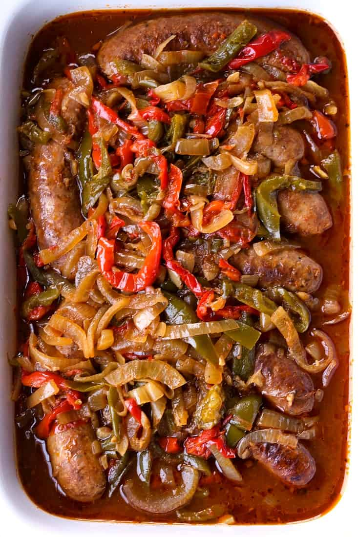 Crock Pot Sausage and Peppers are a sausage recipe that's made in a slow cooker