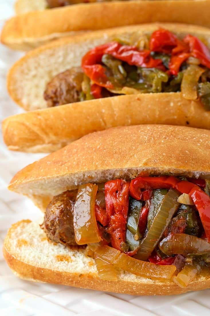 Crock Pot Sausage and Peppers are a sausage and pepper recipe with marsala wine