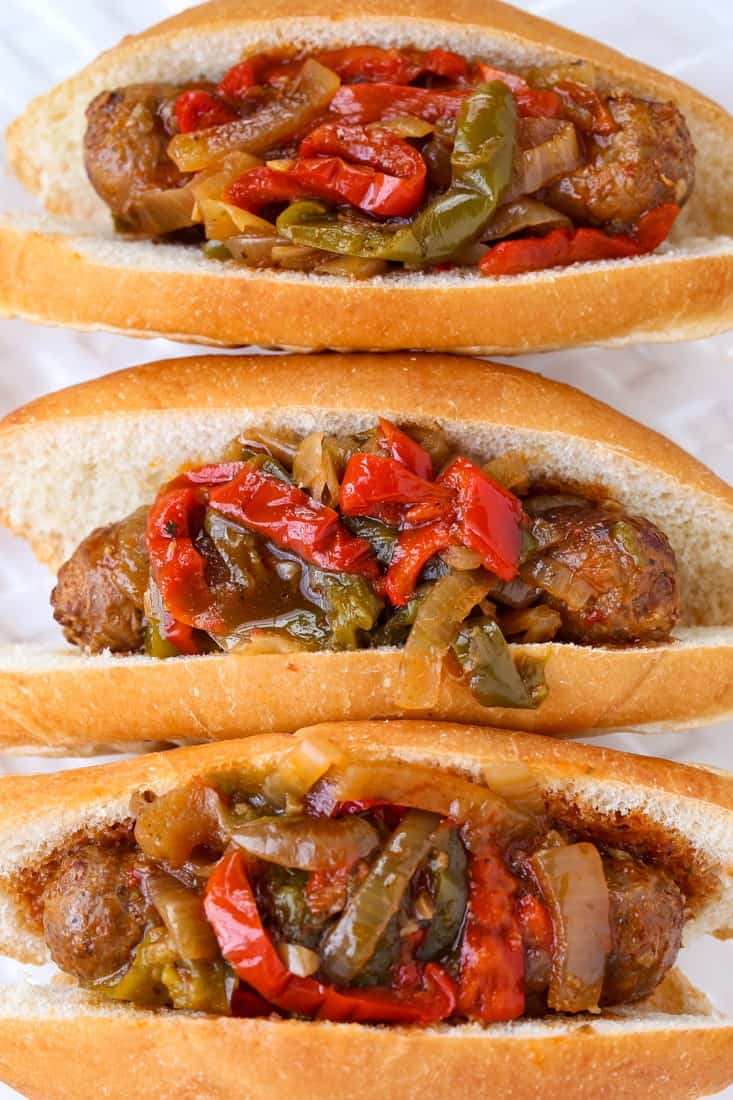 Crock Pot Sausage and Peppers are a slow cooker recipe for Italian sausage