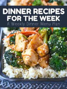 Dinner Recipes For The Week is a weekly menu planner for dinner recipes