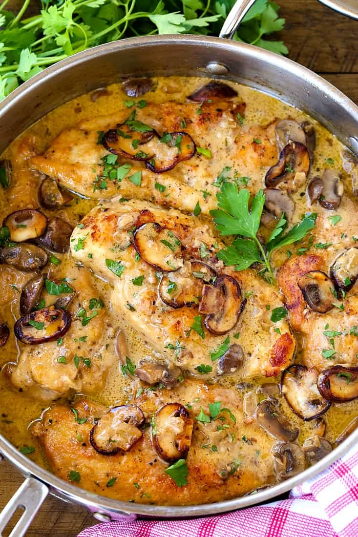 The Ultimate Chicken Marsala recipe is a chicken breast recipe with mushrooms and marsala wine