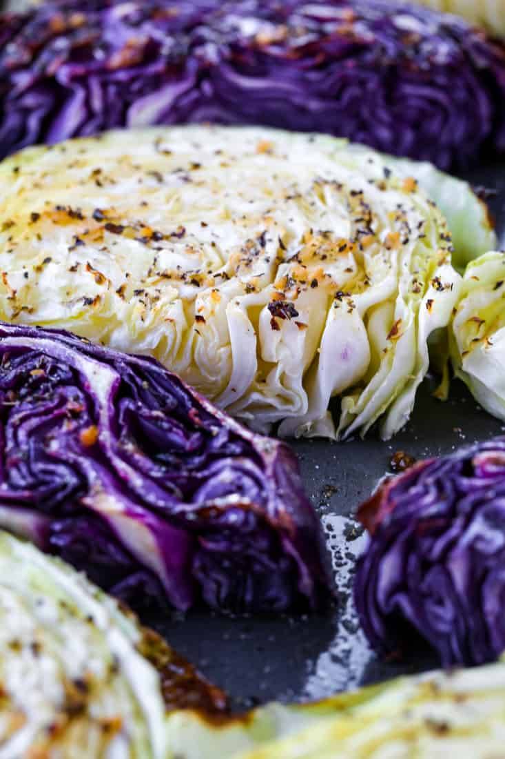Oven Roasted Cabbage Recipe is a cabbage recipe that's cut into thick slices