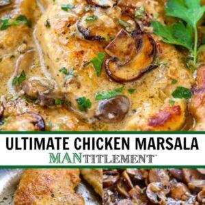 Creamy Chicken Marsala Photo Collage