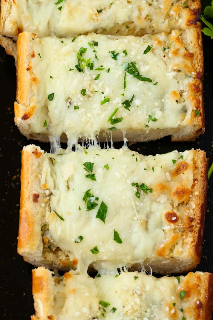 Easy Cheesy Garlic Bread is a garlic bread recipe that can be served as a side dish