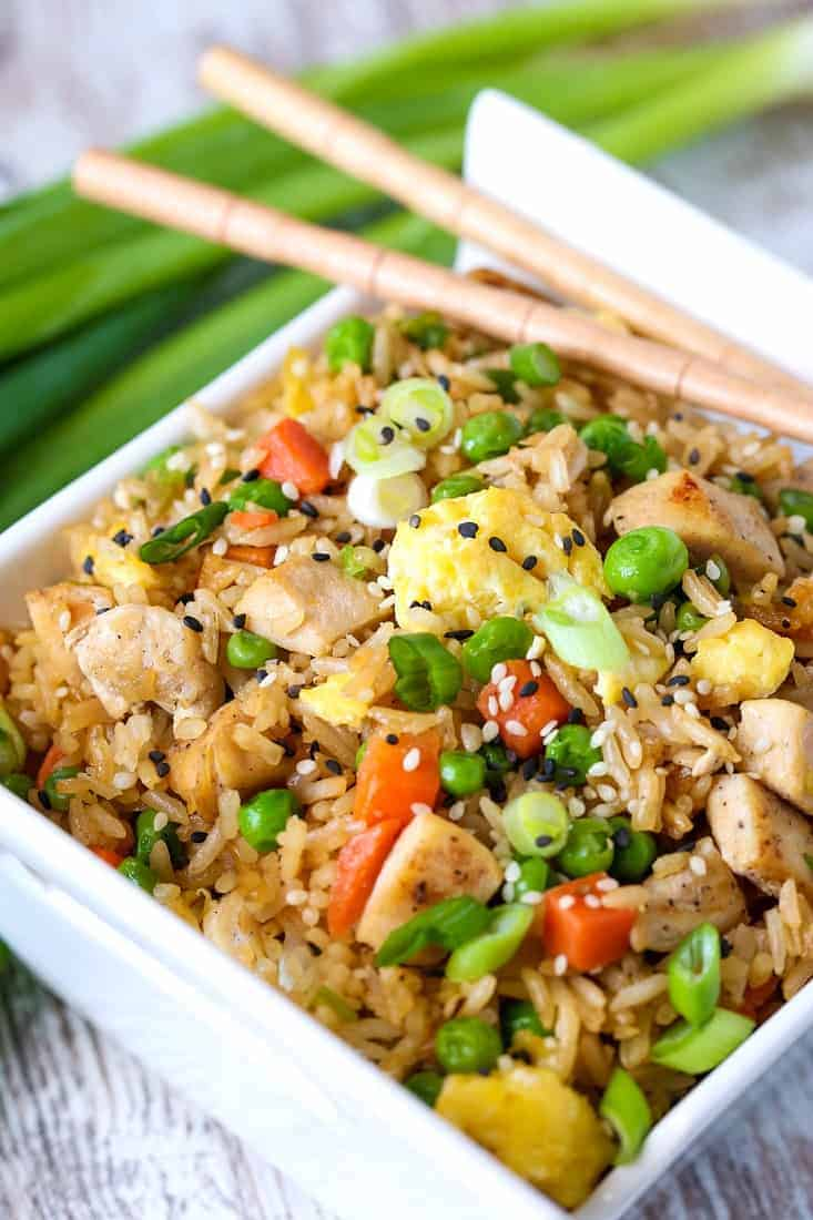Chicken Fried Rice is a fried rice recipe you can make for an easy dinner