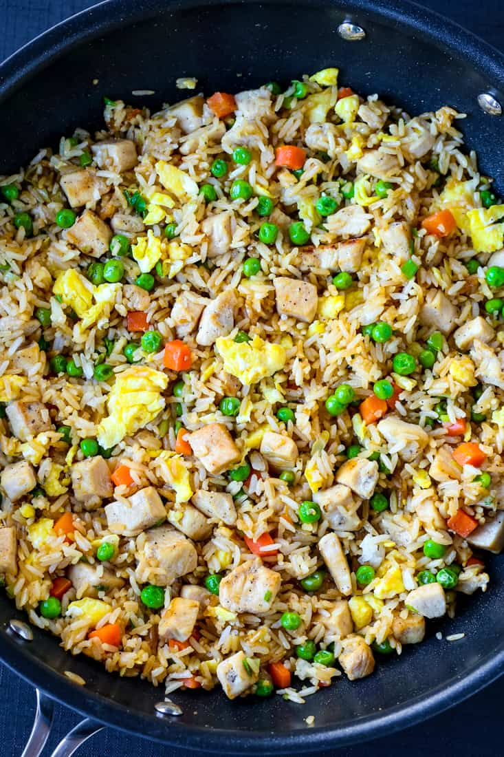 Chicken Fried Rice is an easy dinner recipe that's made in one skillet