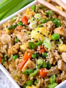 Chicken Fried Rice is a fried rice recipe with chicken and vegetables