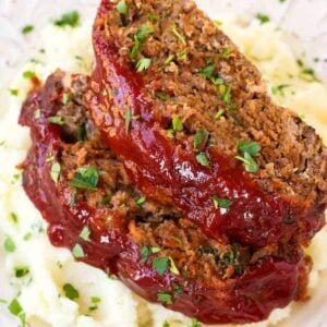 Classic Meatloaf Recipe is a meatloaf with a tomato glaze
