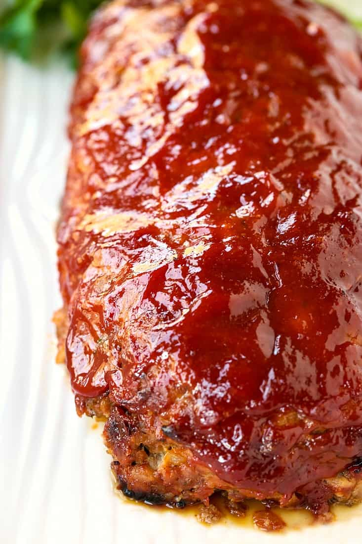 meatloaf recipe made with a ketchup glaze on top