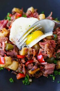 Corned Beef Hash is a breakfast or brunch recipe that uses leftover corned beef
