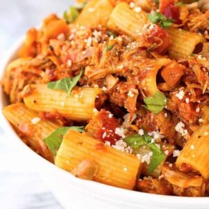 Easy Turkey Bolognese is a pasta sauce recipe with turkey, carrots and celery