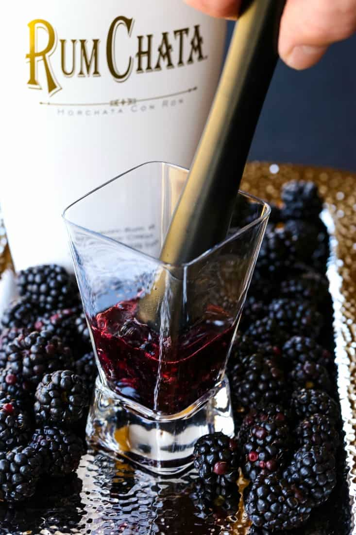 RumChata Blackberry Fool is a RumChata drink that is made by muddling fresh berries