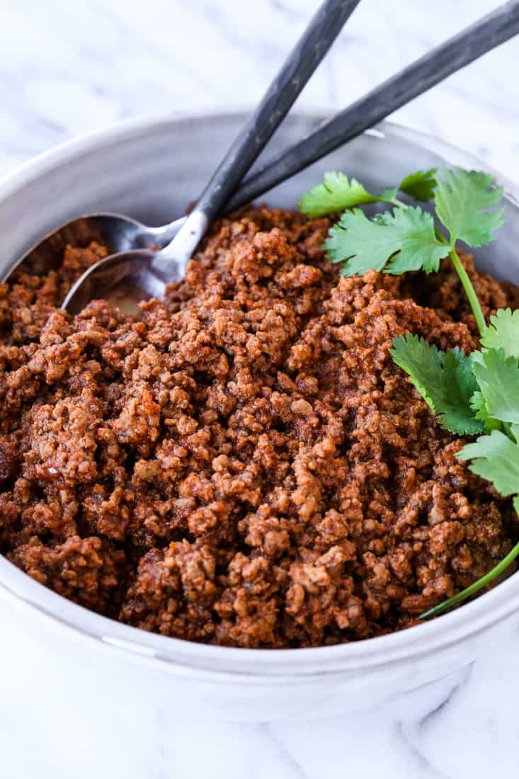 Homemade Beef Taco Recipe is a recipe for taco meat that can be used on tacos or other dinners