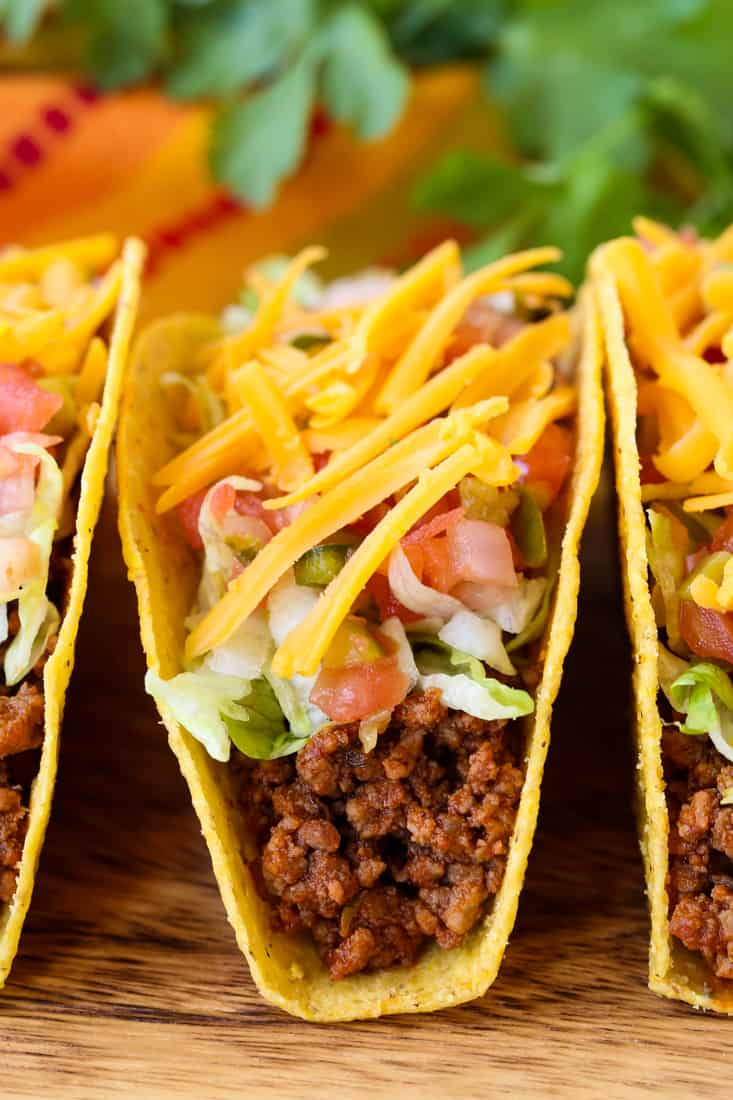 Homemade Beef Taco Meat is a beef taco recipe that takes 15 minutes