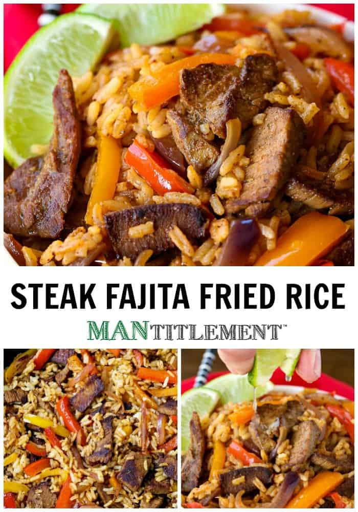 Steak Fried Rice collage with logo