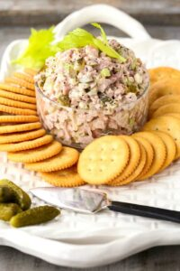Dill Pickle Ham Salad is a leftover ham recipe you can serve with crackers