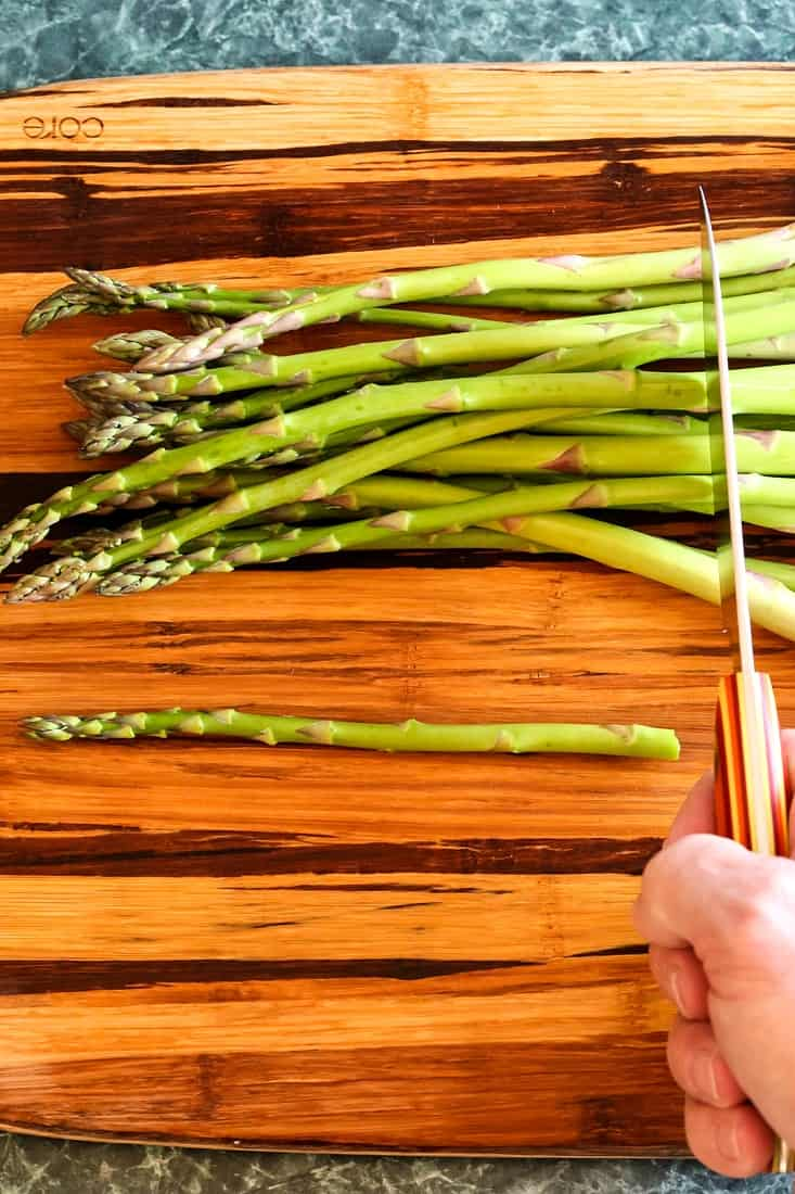 Oven Roasted Balsamic Asparagus is an asparagus recipe that shows you hoe to trim asparagus