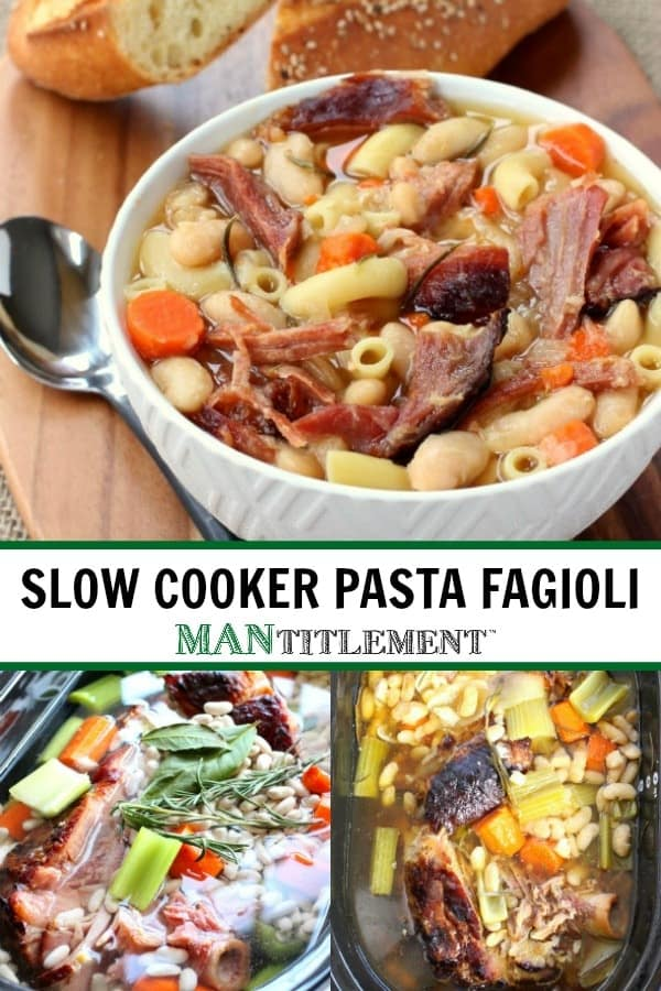 pasta fagioli collage for pinterest