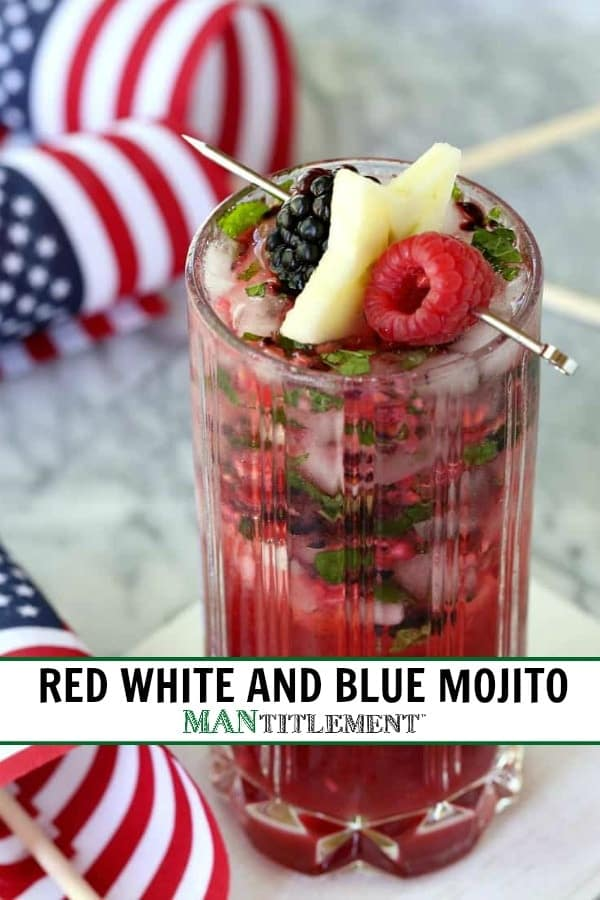 Red White & Blue Mojito collage for Pinterest