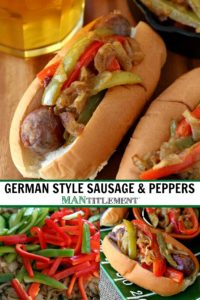 German Style Sausage and Peppers collage for pinterest