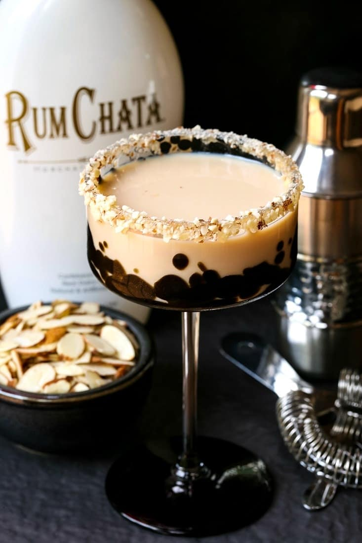 RumChata Toasted Almond Cocktail is a dessert cocktail made with RumChata