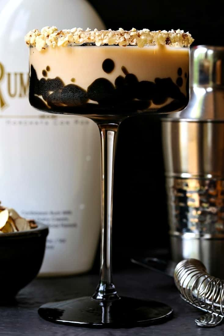 RumChata Toasted Almond Cocktail is made with heavy cream, Amaretto and Kahlua