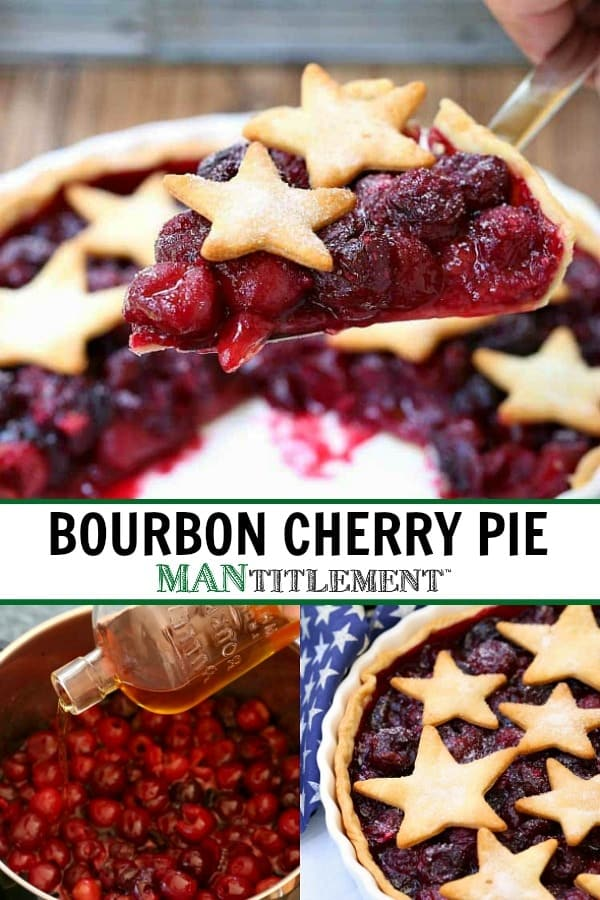 Bourbon Cherry Pie is a cherry pie recipe with a touch of bourbon