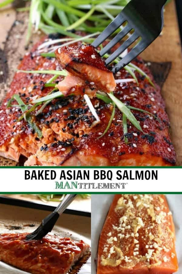 Baked Asian BBQ Salmon is a 15 minute salmon recipe made in the oven