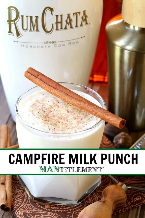 Campfire Milk Punch is a chilled rumchata cocktail